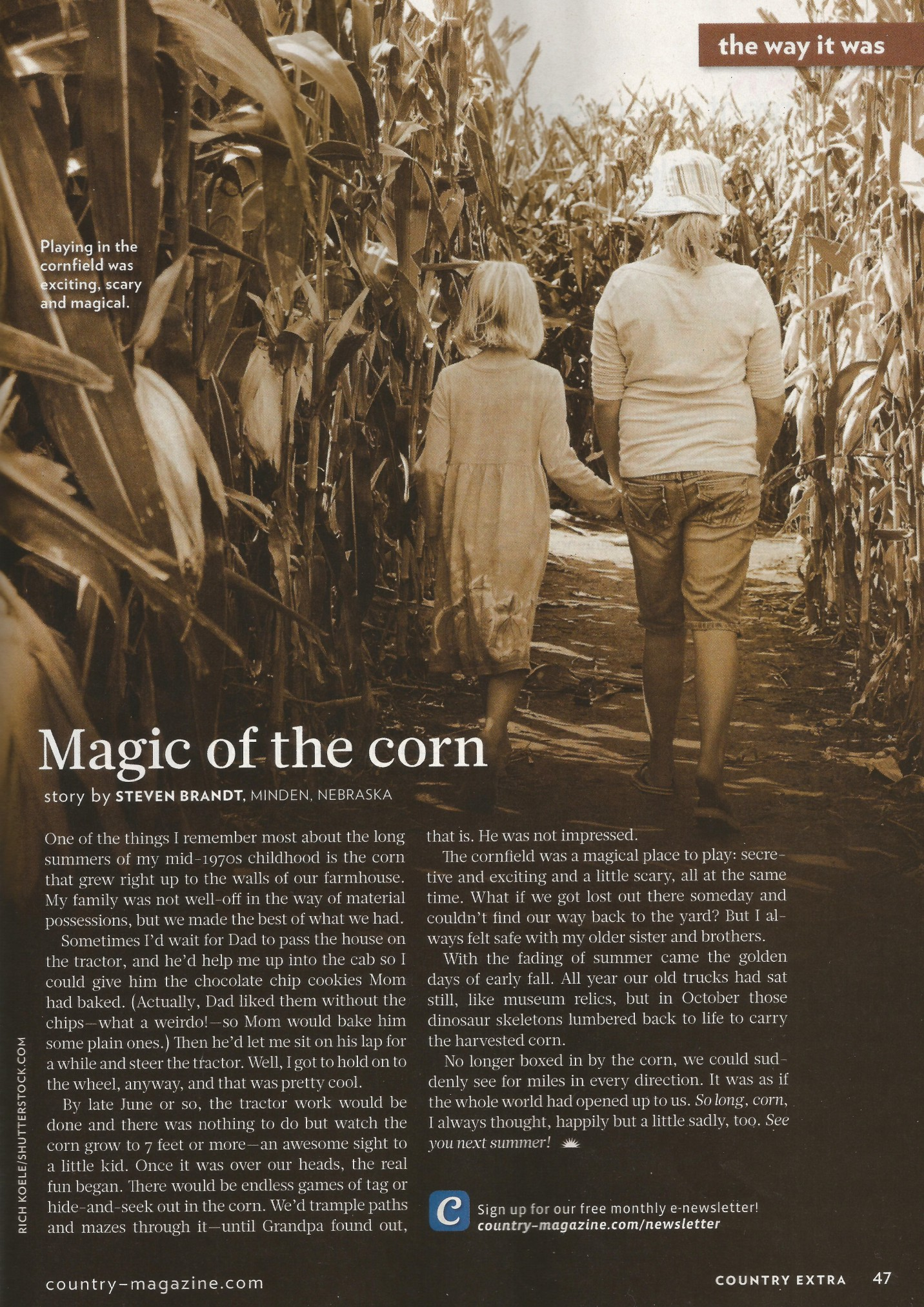 Country Magazine Sept 2013 issue
